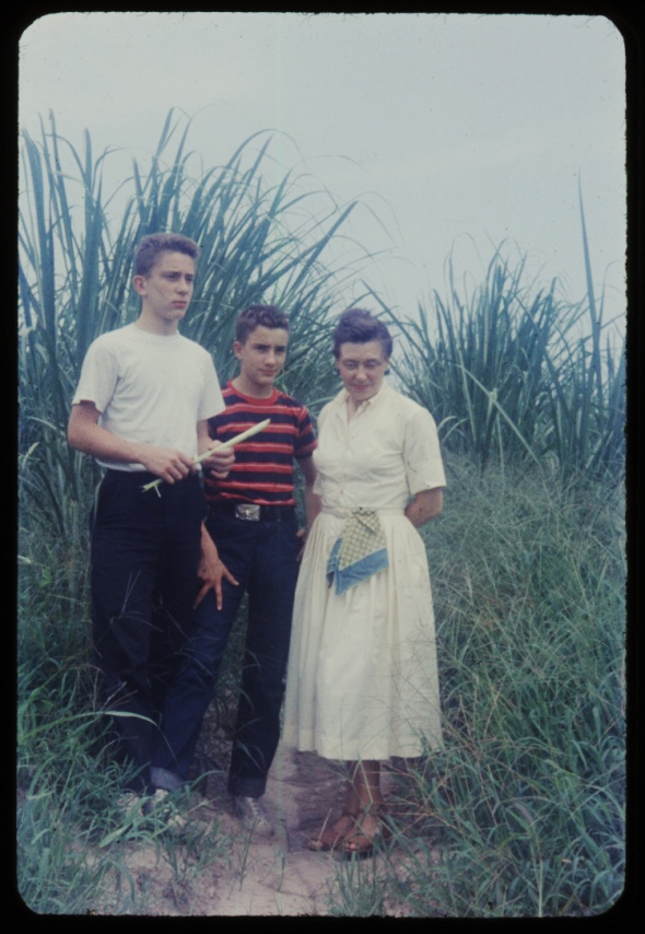 In a sugar cane field, Baton Rouge LA, 1956.