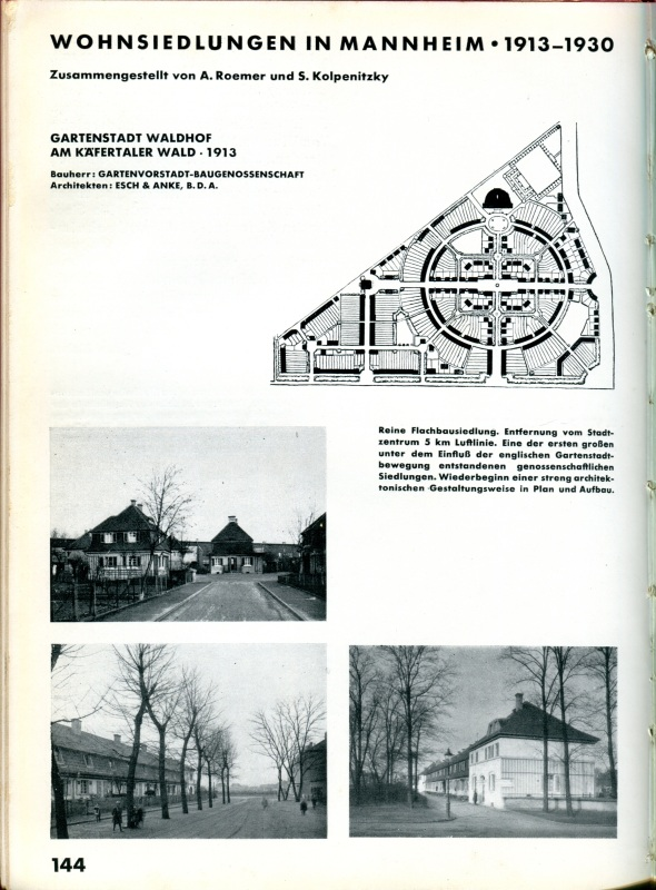 "Article in ""The Living City"" about housing developments in Mannheim, 1913-1930. [Click image for larger view.]"