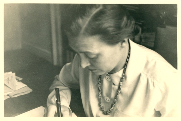 Elfriede Fischer Hoeber (1904-1999), around the time she returned to work in 1947.