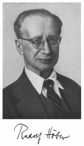 Rudolf Höber (1873-1952).  Picture taken around the time he served as Chancellor of the University of Kiel.