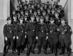 Troops of the SS or Schutzstafel.  They were much more disciplined and much more dangerous than the Stormtroopers of the SA.