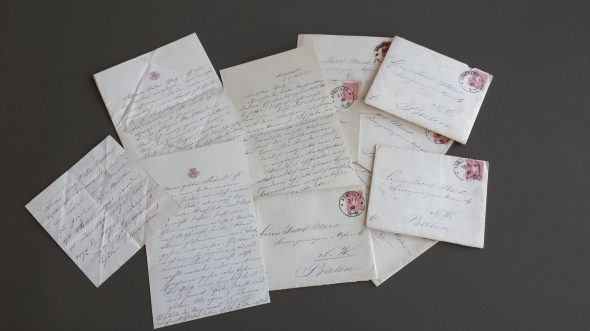 Berlin , 1867-1880, letters from my great-grandmother, Marie Marx, to her husband, Jakob.