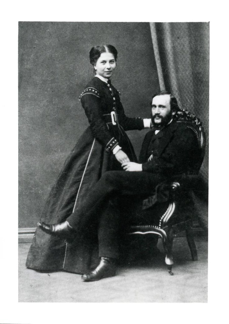 Anselm Hoeber (1832-1899) and Elise Koehlau Hoeber (1843-1920) around the time of their marriage in 1865.  A century after he was born, the question of whether Anselm's parents were Jewish would have major implications for his grandchildren and great grandchildren.