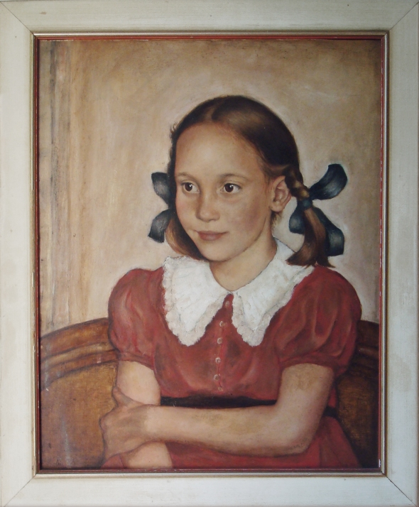"Erich von Baeyer, ""Portrait of a Young Girl"" [Susanne Höber], 1938"