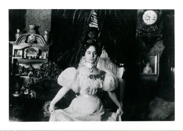 Josephine Marx on the day of her wedding to Rudolf Höber, August 10, 1901 at her mother's apartment in Berlin.