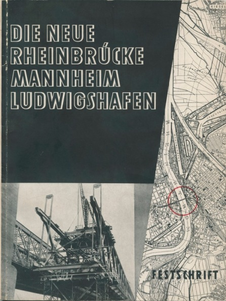 Program for the dedication of the ne bridge across the Rhine at Mannheim, November 19, 1932.
