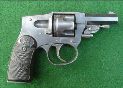 "Arminius ""Pirkert"" .32 caliber revolver, Germany, 1920s.  This might have been the kind of gun my father might have bought before the Nazis took over Germany in 1933."