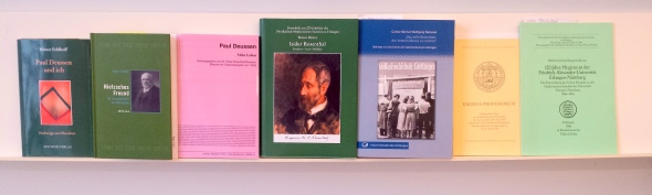 Books on Isidor Rosenthal, Werner Rosenthal and Paul Deussen.