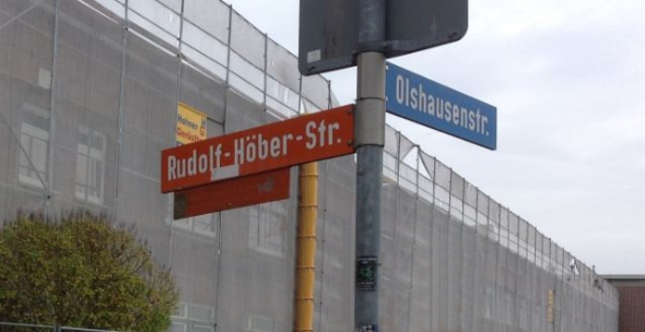 The street adjacent to the Physiological Institute at the University of Kiel is named for my grandfather. Photograph by my friend Nancy Greenspan.