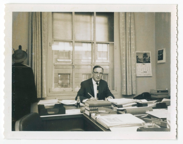 My father, Johannes U. Hoeber, as administrator of the Accelerated Public Works Program in the Economic Development Administration during the Kennedy presidency, 1963.
