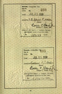 American Immigration Visas that saved Elfriede and Susanne Höber's lives, 11 July 1939.