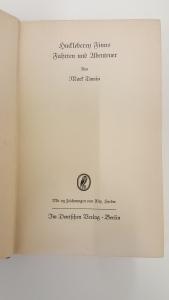 Mark Twain, Huck Finns Fahrten und Abenteuer, Berlin, 1938