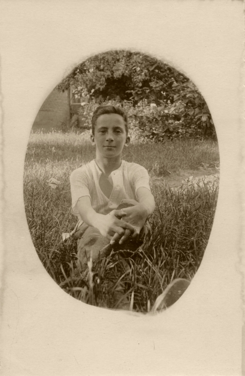 Johannes, summer of 1918 (age 14) near the end of World War I.
