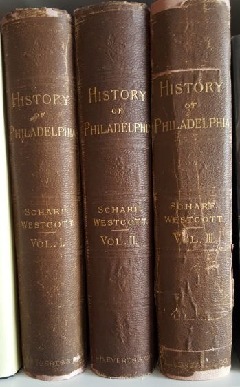 History of Philadelphia, 1609-1884 by J. Thomas Scharff and Thompson Westcott, 1884. My mother bought this set at Leary's used books on 9th Street for $25 around 1955.