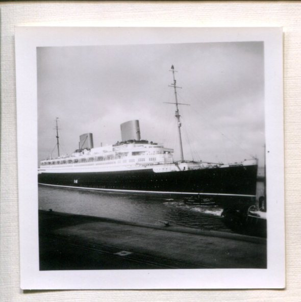 Steamship Europa in Cherbourg, France. Photo by Johannes Höber, May 1937 as he and Elfriede were leaving for a month in the US.