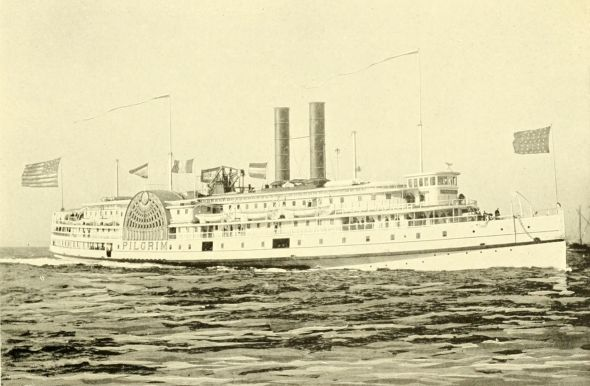 One of the steam boats of the Fall River Line that carried passengers between Cape Cod and New York until 1937.