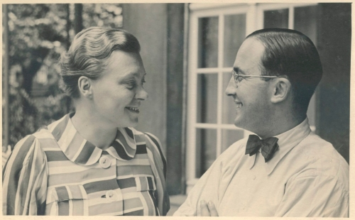 Elfriede and Johannes Höber at home in Düsseldorf in 1938, a few months before leaving Germany permanently to live in the United States.