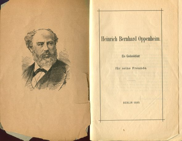 Memorial brochure of tributes to Heinrich Bernhard Oppenheim, Berlin, 1880.