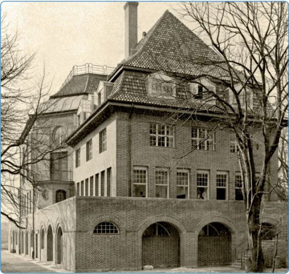 Seeburg Student Center, University of Kiel, where Nazi students prevented the lecture of Prof. Walther Schuecking, May 26, 1930.