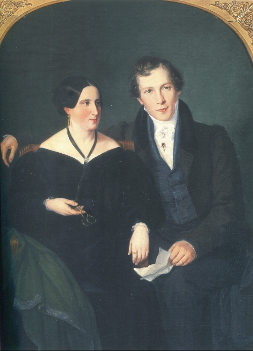M Oppenheim + Adelheid Cleve 1829